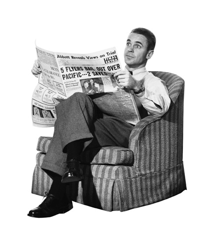 Reading-the-newspaper