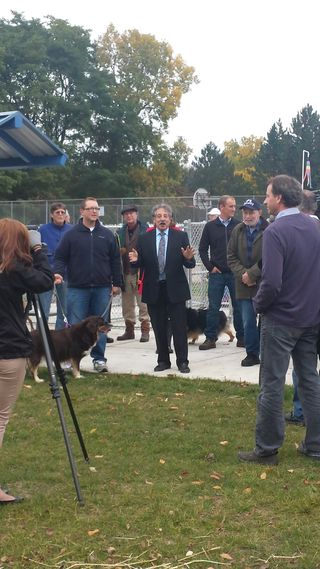 Walnut Grove Dog Park Mayor Speaking