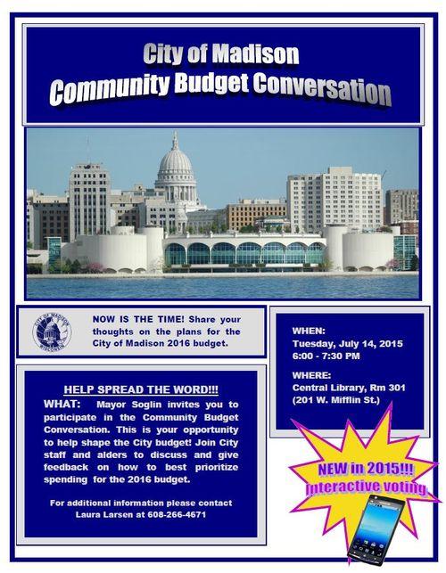 Budget Conversations Flyer