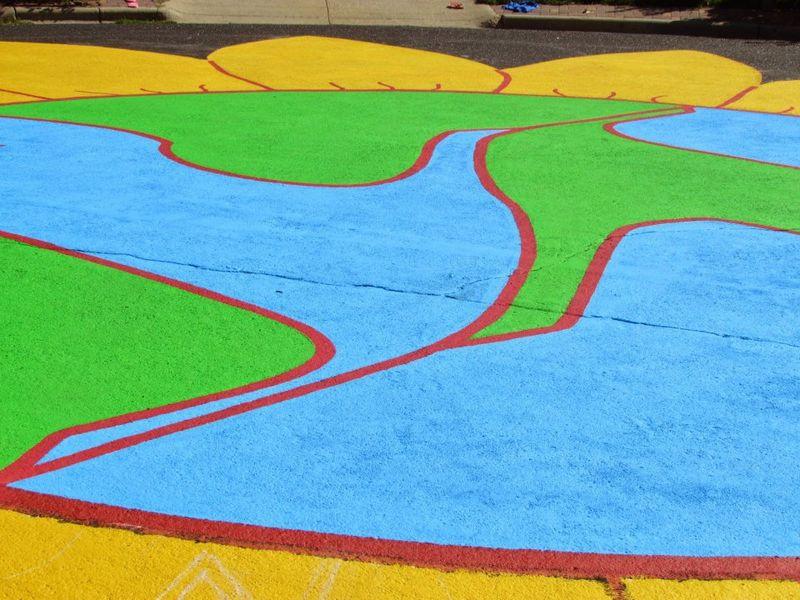 Knutson Circle Pavement Painting finished