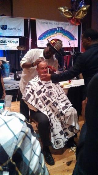 Chief Davis head shaved