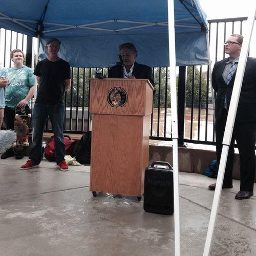 Central Park Skatepark Mayor Speaking