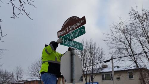 Simpson Street Sign 2