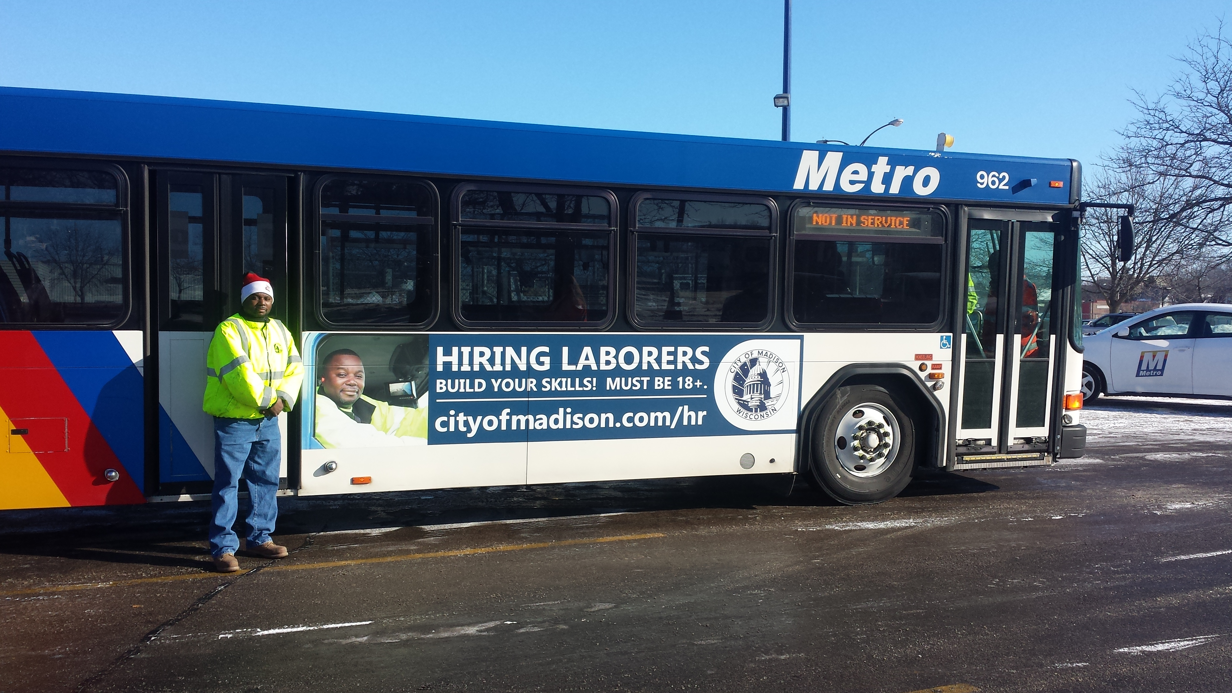Paul soglin waxing america city of madison recruitment ads staff took it a step further including two parks employees charles and juan in the metro ride guide advertising seasonal laborer opportunities sciox Gallery